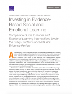 Investing in Evidence-Based SEL report cover