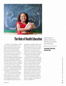 Role of Health Education report cover