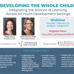 Flyer for Developing the Whole Child Webinar