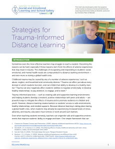 Trauma Informed Distance Learning Brief