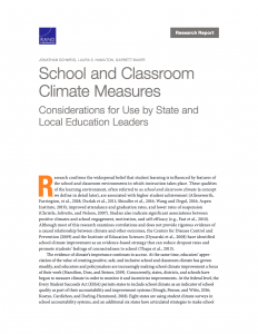 School Climate & Classroom Measures Report