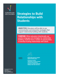 Toolkit for Building Relationships with Students