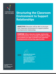 Toolkit on Structuring the Classroom Environment to Support Relationships
