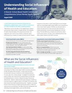 Understanding Social Influencers of Health and Education report cover