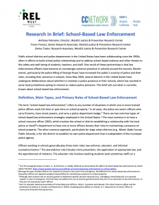 School-Based Law Enforcement Research Brief