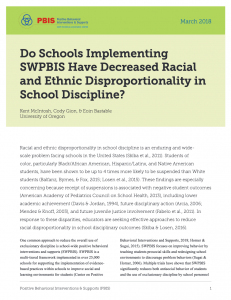 Study on SWPBIS and Disproportionality