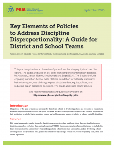 Policies to Address Discipline Disproportionality