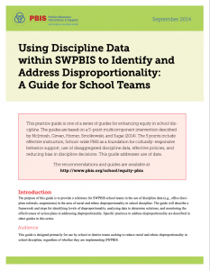 Using Discipline Data to Address Disproportionality