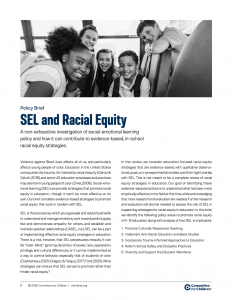 SEL and Racial Equity