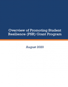 PSR Report Cover