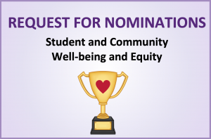 Well-Being and Equity Award