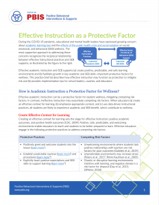 Effective Instruction as a Protective Factor